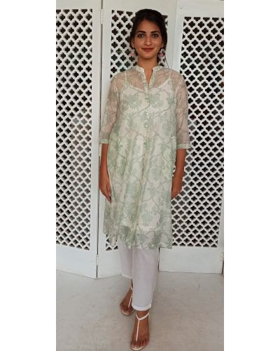 LORETTA 6 CHANDERI TUNIC