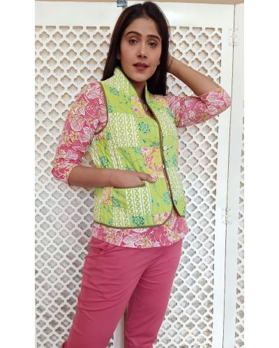 SLIM PATCH QUILTED VEST