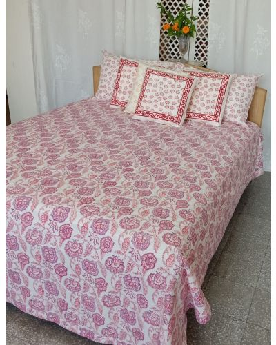 ORGANIC COTTON BED SPREAD WITH FLANG
