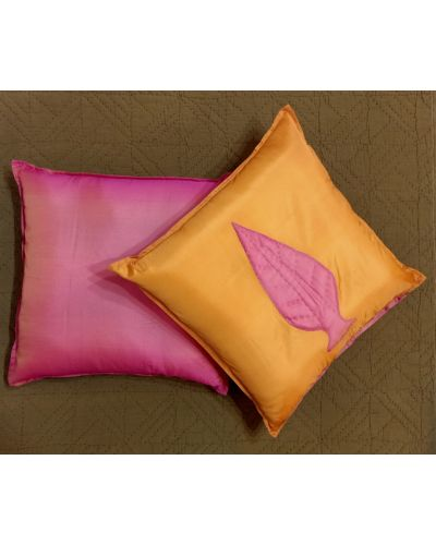 POLY SILK CUSHION COVER SET OF 2
