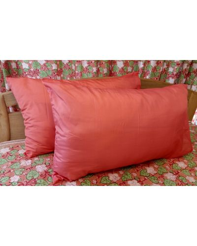POLY SILK PILLOW COVER SET OF 2