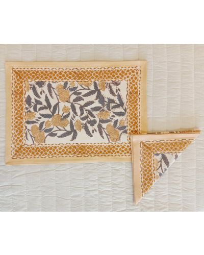 CANVAS PLACEMAT WITH NAPKIN- SET OF 4