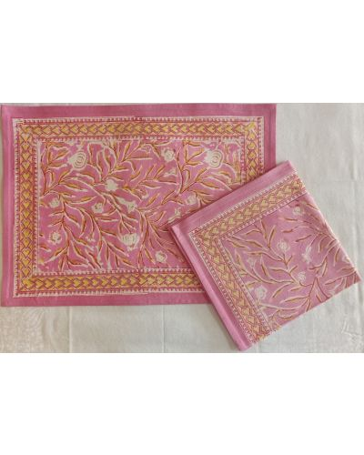 CANVAS PLACEMAT WITH NAPKIN- SET OF 6