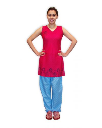 MEGHA 9A TUNIC WITH LIGHT BLUE PLAIN SALWAR